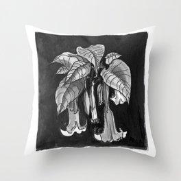 Poisonous Plants: Brugmansia (Angel's Trumpet) Throw Pillow