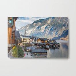 Views across Hallstatt, Austria Metal Print