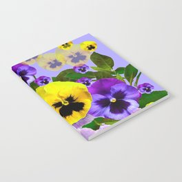 SPRING PURPLE & YELLOW PANSY FLOWERS Notebook