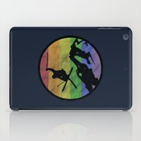 skiing iPad Cases featuring skiing 2 by Paul Simms