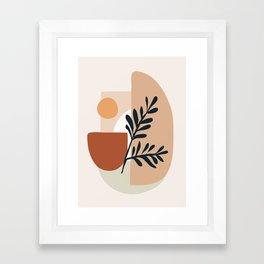 Geometric Shapes Framed Art Print