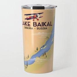 Lake Baikal Siberia Russian travel poster Travel Mug