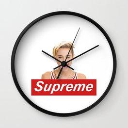 miley crus supreme Wall Clock