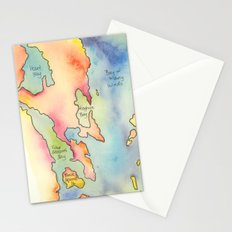 Go Home Lake - Coloured Map Stationery Cards