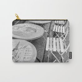 Paris Cafe in Black & White Carry-All Pouch