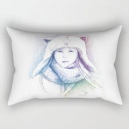 Speechless Collection - Cat hat Rectangular Pillow
