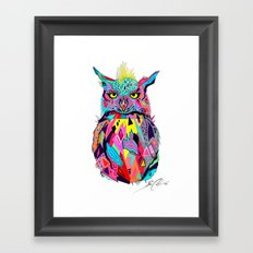 -Abstract Owl- Framed Art Print