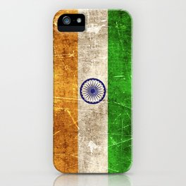 Vintage Aged and Scratched Indian Flag iPhone Case