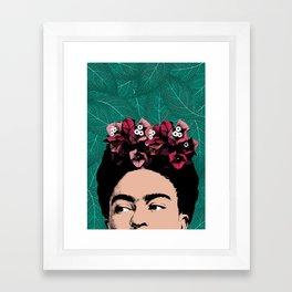 Floral Frida Framed Art Print