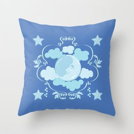 Beddy Bye Moon Throw Pillow