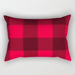 DigiPlaid Red Rectangular Pillow