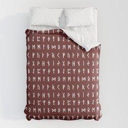 Nordic Runes // Monarch Red Comforters