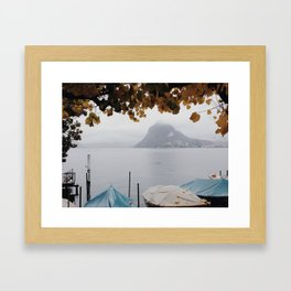 November in Lugano Framed Art Print