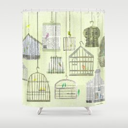 Bird cages Shower Curtain