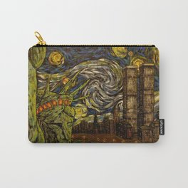NYC Starry Night: Twin Towers (The True Towers) Carry-All Pouch