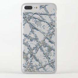 Sparkle Net Blue Clear iPhone Case