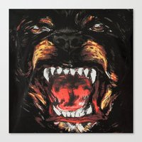 givenchy Canvas Prints featuring Givenchy Dogface by Beauti Asylum