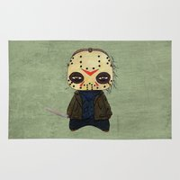 actor Area & Throw Rugs featuring  A Boy - Jason ( Friday the 13th) by Christophe Chiozzi