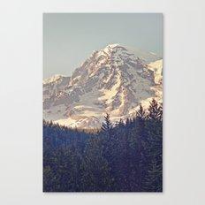 Mount Rainier Retro Canvas Print