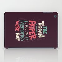paper towns iPad Cases featuring Paper Towns: Town and Memories by Risa Rodil