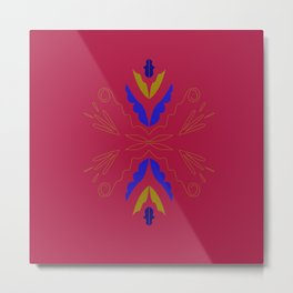 red wint. elements with blue Metal Print