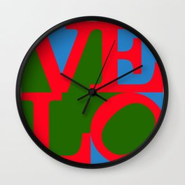 Velo Love – Logo – June 12th – 200th Birthday of the Bicycle Wall Clock