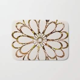 Floral Design Ornament Bath Mat