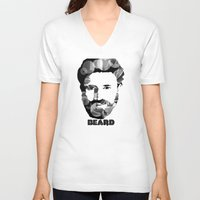 beard V-neck T-shirts featuring Beard! by Joséphine and friends/ et ses amis!