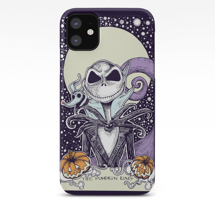 Nightmare Before Christmas Phone Case.The Nightmare Before Christmas The Pumpkin King Tarot Card Color Iphone Case By Corinneelyse