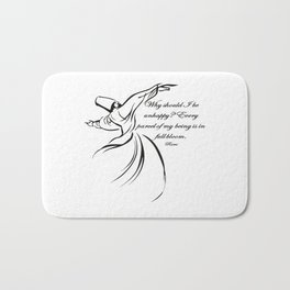 Every Parcel Of My Being Is In Full Bloom Rumi Quote Bath Mat