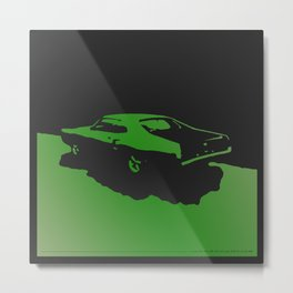 Mercury Marauder, Green on Black Metal Print