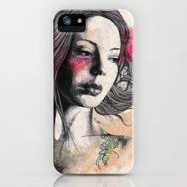 Hexagram (street art elegant lady portrait) iPhone Case