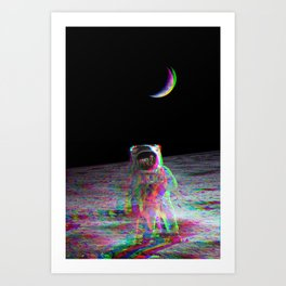 COLORFUL MOONS Art Print