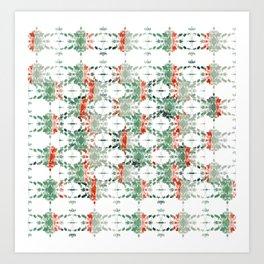 estrela_turqouise&red_no2 Art Print