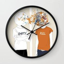 EMPTY-FULL Wall Clock