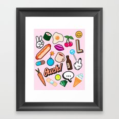 Patches Framed Art Print