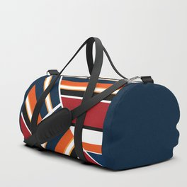 Retro . Combined stripes . Duffle Bag