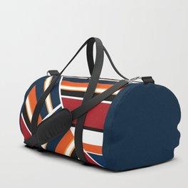 Retro . Combined stripes . Duffle Bag