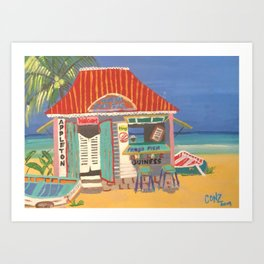 Rum Bar Art Print