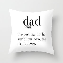 Dad Definition Print, Father's Day Gift, Funny Dad Gift, Wall Art, Digital Print, Instant Download, Throw Pillow