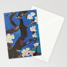 blossoming almond tree Stationery Cards