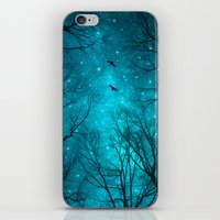 black iPhone & iPod Skins featuring Stars Can't Shine Without Darkness  by soaring anchor designs