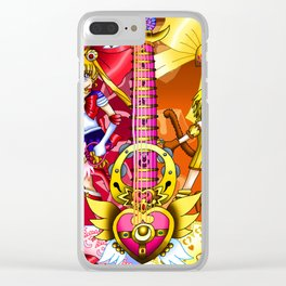 Sailor Mew Guitar #4 - Sailor Moon & Mew Pudding Clear iPhone Case