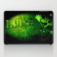 luigi iPad Cases featuring Luigi - Support the Underdog by Donkey Inferno