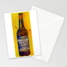Bourbon County Stout, Goose Island for Beer Art Print from original Watercolor - Man Cave - College Stationery Cards