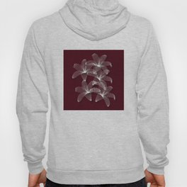 Tiger Lilies in Burgundy and White Hoody