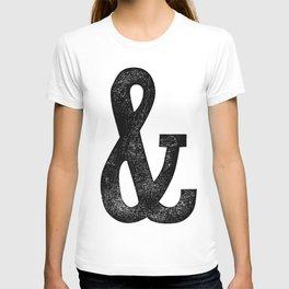 Vintage Letter Pressed Ampersand Skinny T-shirt