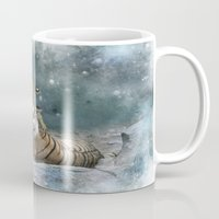 tigers Mugs featuring Tigers by Julie Hoddinott