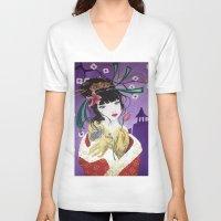 mulan V-neck T-shirts featuring Mulan by marmaseo