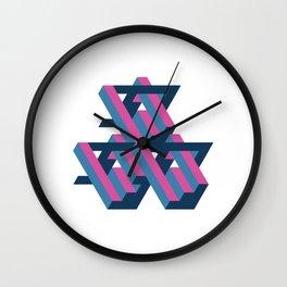 3D Geometric Pattern Wall Clock